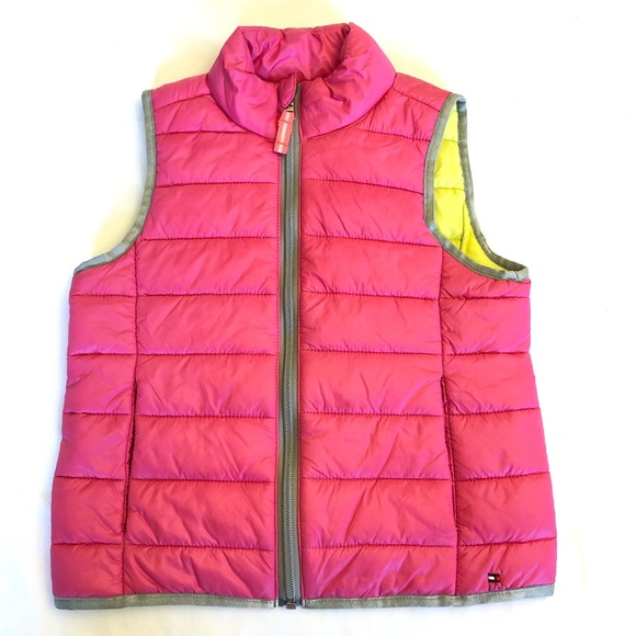 Tommy Hilfiger Other - Tommy Hilfiger Pink/Yellow Puffer Vest